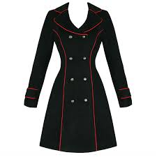hearts and roses london black military coat hearts and roses