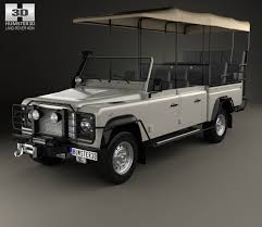 land rover land land rover defender safari game viewing 1990 3d model hum3d