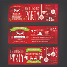 2015 christmas party invitation banners vector 01 vector banner
