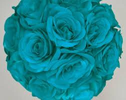 teal flowers teal flower girl etsy