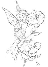fairy coloring pages disney cartoon fairy tinker bell coloring