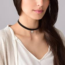 heart pendant choker necklace images Black choker necklace with heart charm mynamenecklace jpg