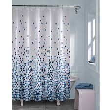 matrix geo shower curtain in blue bed bath u0026 beyond