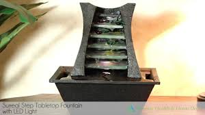 surreal step tabletop fountain with led light youtube