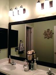 Frames For Bathroom Wall Mirrors How To Frame A Bathroom Mirror With Wood Wood Frame For
