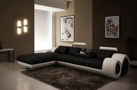 canape angle noir et blanc canapé d angle en cuir italien 5 places verdi noir et blanc