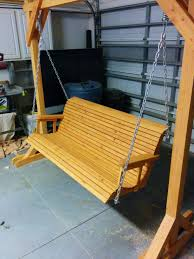 arbor swing plans 11 free porch swing plans to build at home