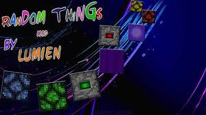 random random things 3 6 4 minecraft mods mapping and modding java
