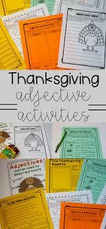 thanksgiving adjectives activities anchor chart quiz