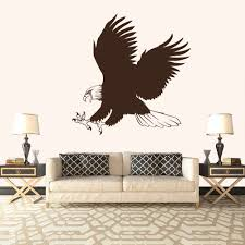 bald eagle hunting birds u0026 feathers wall stickers home decor art