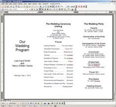 wedding program fans wording free printable wedding programs templates the template is