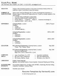 exle format of resume resume excel format best of contemporary resume template 4 free