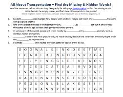 image of transportation worksheet free printable science hidden