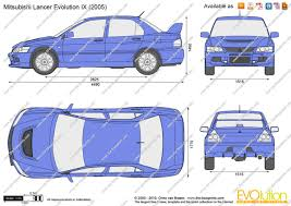 mitsubishi evo drawing the blueprints com vector drawing mitsubishi lancer evolution ix