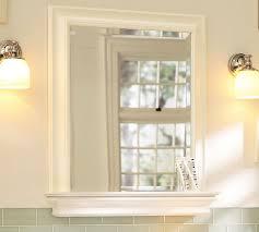 Bathroom Mirror With Shelf by Metropolitan Mirror With Shelf Pottery Barn