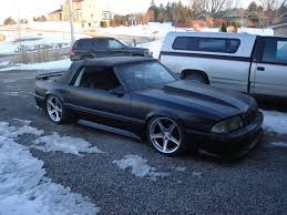 Black Fox Body Mustang Theme Tuesdays Foxbody Mustangs Stance Is Everything