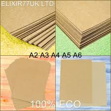 brown paper ebay a2 a3 a4 a5 a6 brown kraft card stock blanks craft recycled paper 100 to 300gsm