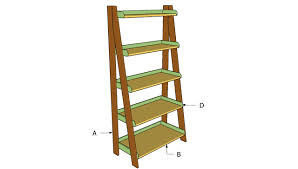 ladder shelves plans howtospecialist how to build step by