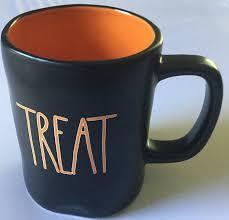 amazon com rae dunn magenta trick treat mug black with orange