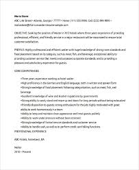 Restaurant Hostess Resume Examples by Waiter Resume Bar Waiter Recommendation Letter Waiter Resumes