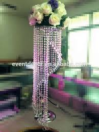 tall crystal chandelier table top centerpieces for weddings decoration
