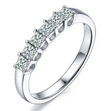 Princess Cut Wedding Ring by 1 00 Carat Princess Cut Diamond Wedding Band On 10k White Gold