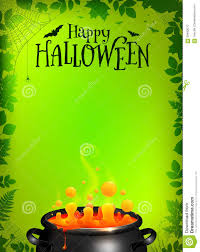 green halloween poster template with orange potion stock vector