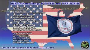 State Flag Of Virginia Virginia State Traditional Song Our Great Virginia With Music