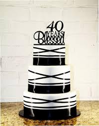 40 cake topper 40th birthday cake topper 40 years blessed custom 40th