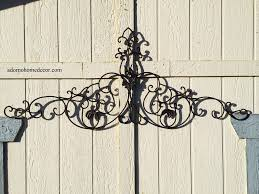 Iron Home Decor by Large Tuscan Wrought Iron Metal Wall Decor Rustic Antique Garden