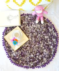 how i crocheted a pendleton selvage rug with poms u2013 mama in a stitch