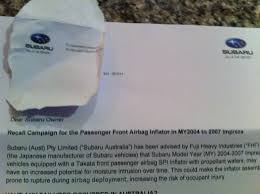 takata airbag recall for lexus takata airbag recall i just received notice for the recall for my