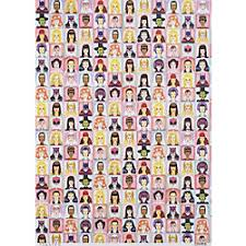 comic wrapping paper heroines villainesses wrapping paper miscellaneous