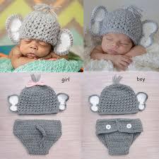 baby boy photo props online shop newborn baby boy girl crochet elephant hat set