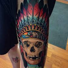 thigh indian skull best ideas gallery