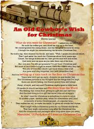 an old cowboy u0027s wish for christmas