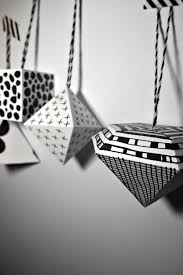 diy black and white geometric ornaments best of interior design