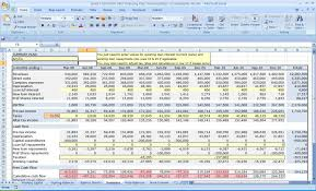 excel three year cash flow plan business financial template p cmerge