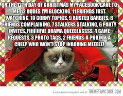 Christmas Cat Memes - grumpy christmas cat pictures christmas card 2018