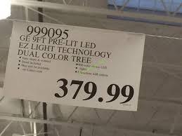 costco 999095 ge 9ftpre litled dual color christmas tree tag
