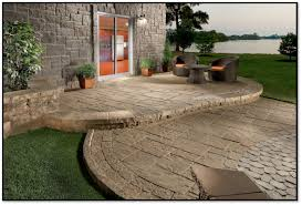 Backyard Concrete Ideas Interlocking Patio Tiles Over Grass Home Outdoor Decoration