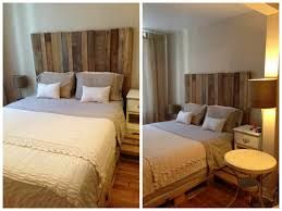 Spring Bed by Headboard Barn Wood U0026 Spring Bed Pallets Tête De Lit Bois