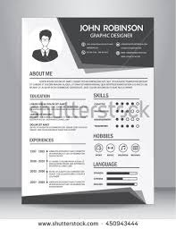 Resume Template Layout Resume Cv Template Layout Template Stock Vector 450943444