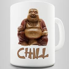 amazon com chill buddha mug kitchen u0026 dining