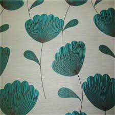 Teal Curtains Chess Poppies Curtain Fabric Teal Curtain Factory Outlet