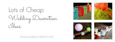 Wedding Decorations Cheap Make Your Own Wedding Decorations