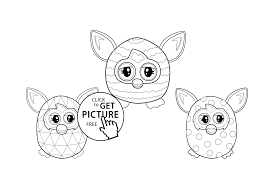 furby coloring sheet for kids printable free one furby