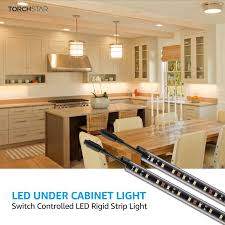 led kitchen cupboard cabinet lights huis set of 3 white frosted glass led cabinet light