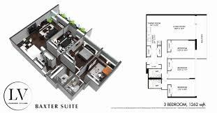 floor plans lougheed village baxter suite