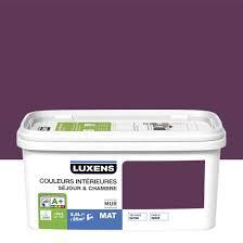 peinture violette chambre peinture violet aubergine 2 satin luxens couleurs intérieures 2 5 l